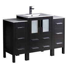 fresca fvn3318es contento 48 inch espresso modern bathroom fresca glass vanities with tops bathroom vanities the home depot