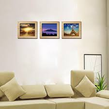 three pairs of picture 3 d fake picture frames scenery wall