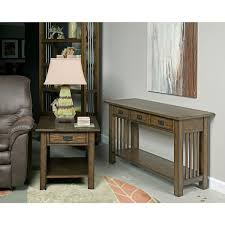 Hammary Sofa Table by Canyon Ii Rectangular Drawer End Table