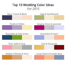 top 10 wedding color scheme ideas 2016 wedding trends part one