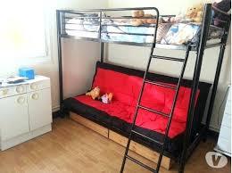 lit mezzanine 2 places avec canapé lit en hauteur avec canape lit mezzanine avec banquette clic clac