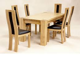 Oak Dining Room Table And 6 Chairs Interesting Decoration Oak Dining Table And Chairs Solid