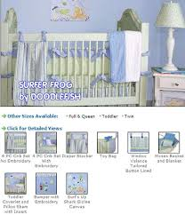 Surfer Crib Bedding Theme Baby Nursery