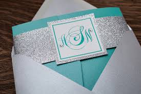 Silver Wedding Invitations Allison U0026 Noah Aqua And Silver Wedding Whimsique Invitations