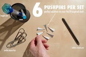 Pushpins Paper Airplane Pushpins Set Of 6 Metal Thumbtacks