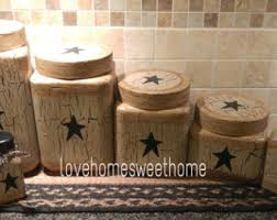 primitive kitchen canisters primitive canister etsy