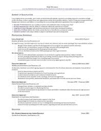 summary of qualifications on a resume assistant resume executive assistant resume