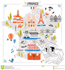 Map Of Lyon France by France Travel Map Stock Vector Image 68370898