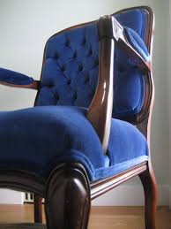 Velvet Wingback Chair Chairs Six Balloons Vintage Delights Royal Blue Victorian Velvet