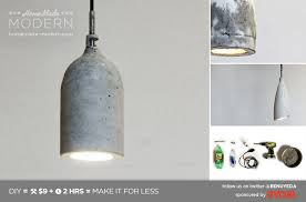 Diy Pendant Light Fixture Homemade Modern Ep9 Concrete Pendant Lamp