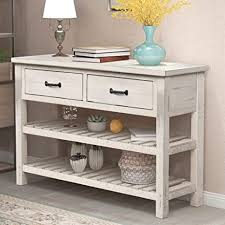 antique white kitchen storage cabinet goujxcy retro console table antique storage cabinet accent entry table for entryway with drawers and shelf living room furniture antique white