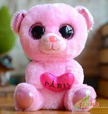 arrival beanie boos american ty big eyes doll pink bear