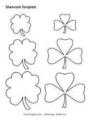large shamrock pattern use the printable outline for crafts