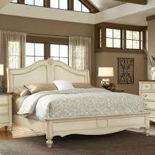 American Woodcrafter American Woodcrafters Chateau King Size Fleur De Lis Headboard Bed