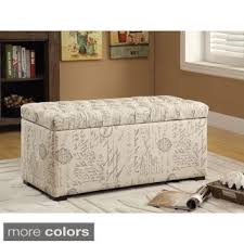 Tufted Storage Bench Ave Six Sahara Tufted Storage Bench With Easy Care Fabric U0026 Slam
