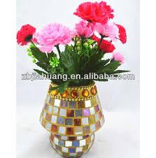 Mosiac Vase Flower Vase Glass Mosaic Vases Hand Paint Work Buy Glass Mosaic