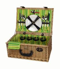 picnic basket set for 4 willow picnic basket from picnic and beyond picnic