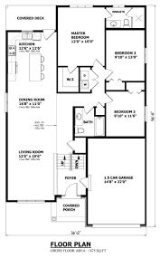 raised bungalow house plans design 3 bedrooms kenorafloorplan 800