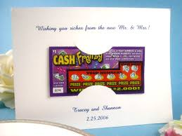 lottery ticket wedding favors winning wedding favors do it and how