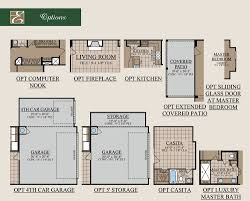casita floor plan valero home plan by bentsen palm by esperanza home in tanglewood