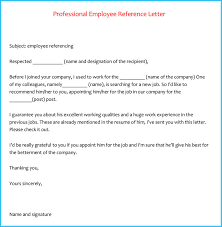 employment reference letters sample recommendation letter for