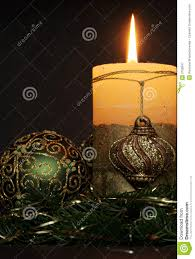 christmas candles and balls ornaments royalty free stock