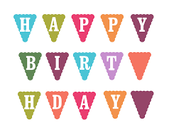 happy birthday cake banner template free clipart free clipart