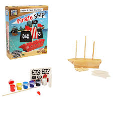 make u0026 paint your own pirate ship by craft for kids bms wholesale