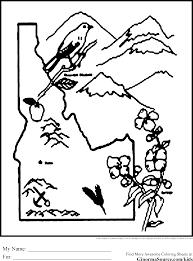 idaho coloring pages ginormasource kids