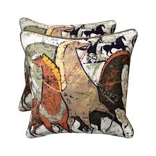 theme pillows single vintage mid century grecian equestrian theme throw pillow