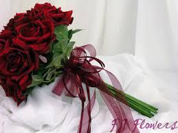 Dark Red Flower - dark red roses bouquets bridal fj flowers specialising in