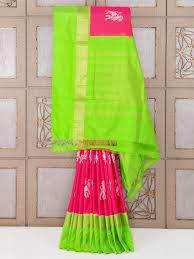 green color pink and green color hyedrabadi patola saree g3 wsa25662