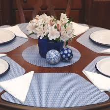 placemats for round table wedge placemats navy white wipe clean wedge shaped round table