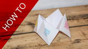 how to make a paper fortune teller 101 things to do with an a4