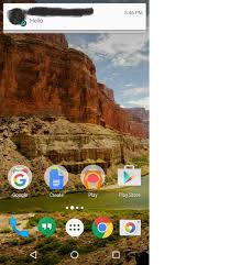 notification like whatsapp or sms android stack overflow