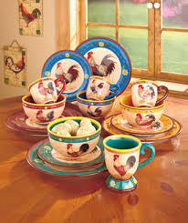 rooster themed dinnerware the lakeside collection
