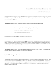 Sample Digital Marketing Resume by Social Media Proposal