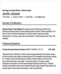 Sample Business Analyst Resume by 50 Business Resume Examples Free U0026 Premium Templates