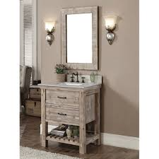 30 Bathroom Vanity by Accos 30 Inch Rustic Bathroom Vanity With Matching Wall Mirror