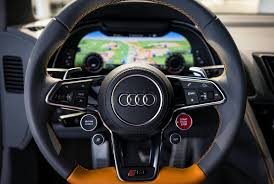 Audi R8 Jet Blue - audi r8 v10 plus looks top notch in orange pearl effect