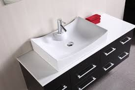 adorna 53 inch espresso finish single sink vanity set