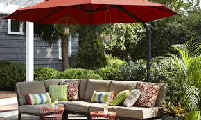 Sunbrella 11 Ft Cantilever Umbrella by Patio U0026 Pergola Keylargo9ftwoodmarketumbrella Wonderful 11 Ft