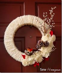 d i y winter wreath roundup wreaths winter and yarns