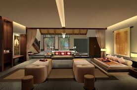 contemporary japanese living room interior design with unique