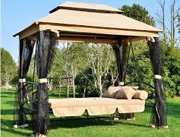 Swing Pergola Luxurious Garden Swing Beds