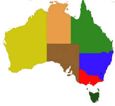 states australia map maps of australia