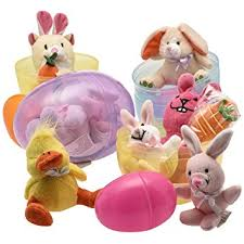 stuffed easter eggs jumbo 6 easter eggs filled with plush easter bunny s ducks and