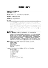 Resume Personal Statement Examples Curriculum Vitae Personal Statement Samples Http Www