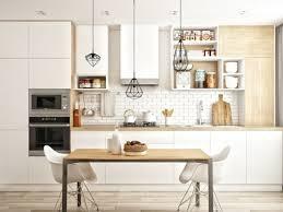 deco cuisine murale déco cuisine blanche scandinave de rêve avec table de cuisine sous