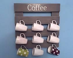 rustic coffee rack coffee mug holder coffee cup display